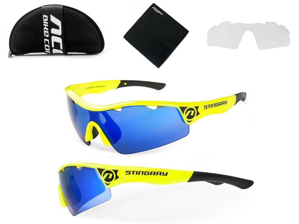 Accent Okulary Stingray Żółte Filtr Uv 400 Wymienne Szkła