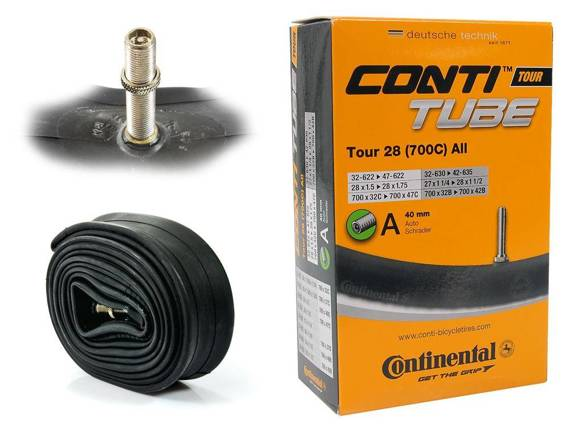 "Dętka Continental Tour 28 ALL 32/47-622/635 28"" x 1,25"" - 1,75"" wentyl auto 40 mm"